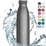 """720°DGREE Edelstahl Trinkflasche """"milkyBottle"""" - 350ml - Perfekt für Kinder, BPA-Frei, Auslaufsicher,..."""