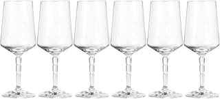 Leonardo Spiritii Weißwein-Gläser, Weißwein-Kelch mit Stiel im Facettenschliff, spülmaschinenfeste Wein-Gläser, 6er Set, 290 ml, 022748