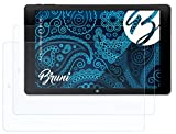 Bruni Schutzfolie kompatibel mit Kiano Intelect 8.9 MS 3G Folie, glasklare Bildschirmschutzfolie (2X)