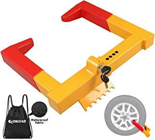 OKLEAD Anti Theft Trailer Wheel Lock Clamp - Security Tire Claw Boot for Golf Cart Motorcycle Trailers ATV Max 12
