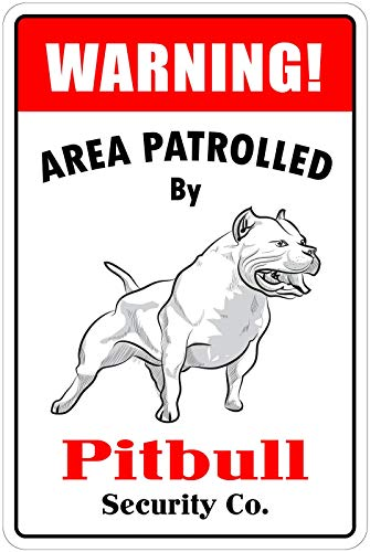 Odeletqweenry Warning Area Patrolled Metal Plaque Tin Wall Sign Retro Iron Warning Wall Poster for Cafe Pub Bar Gaming Room Wedding Gift Aluminum Sign 12 x 18 Inch