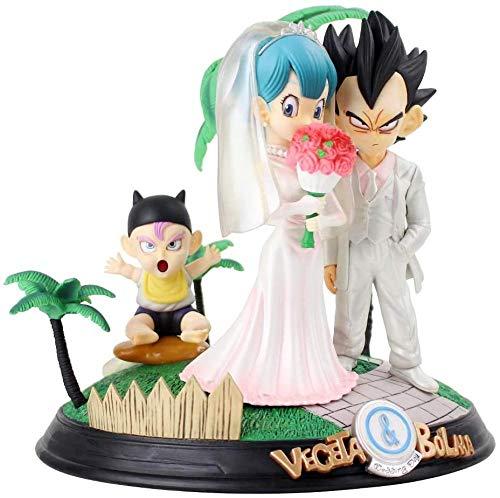 MDCGOK Anime Dragon Ball Bulma Vegeta Marry Vestido de Novia PVC Stock...