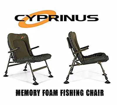 Cyprinus Memory Foam Lo-Chair Lightweight Arm chair for Carp Coarse Fishing very low to the ground from Cyprinus