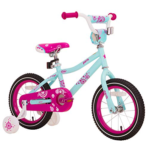 JOYSTAR 18 Inch Kids Bike for 5 6 7 8 Years Girl 45-52˝, Children Bicycle with Hand Brake & Kickstand, Preschool Bike, Blue