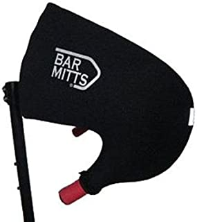 Bar Mitts Road Bicycles Extreme Cold Weather Handlebar Cover for Campy/SRAM/Shimano with Internally Routed Cables, Black