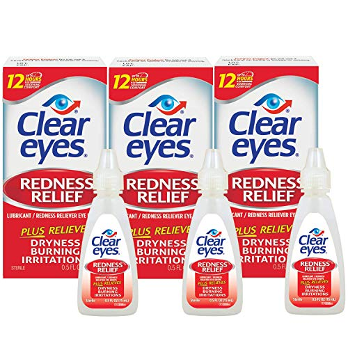 Clear Eyes Redness Relief Eye Drops (0.5 Fl Oz, Pack of 3) $6.03
