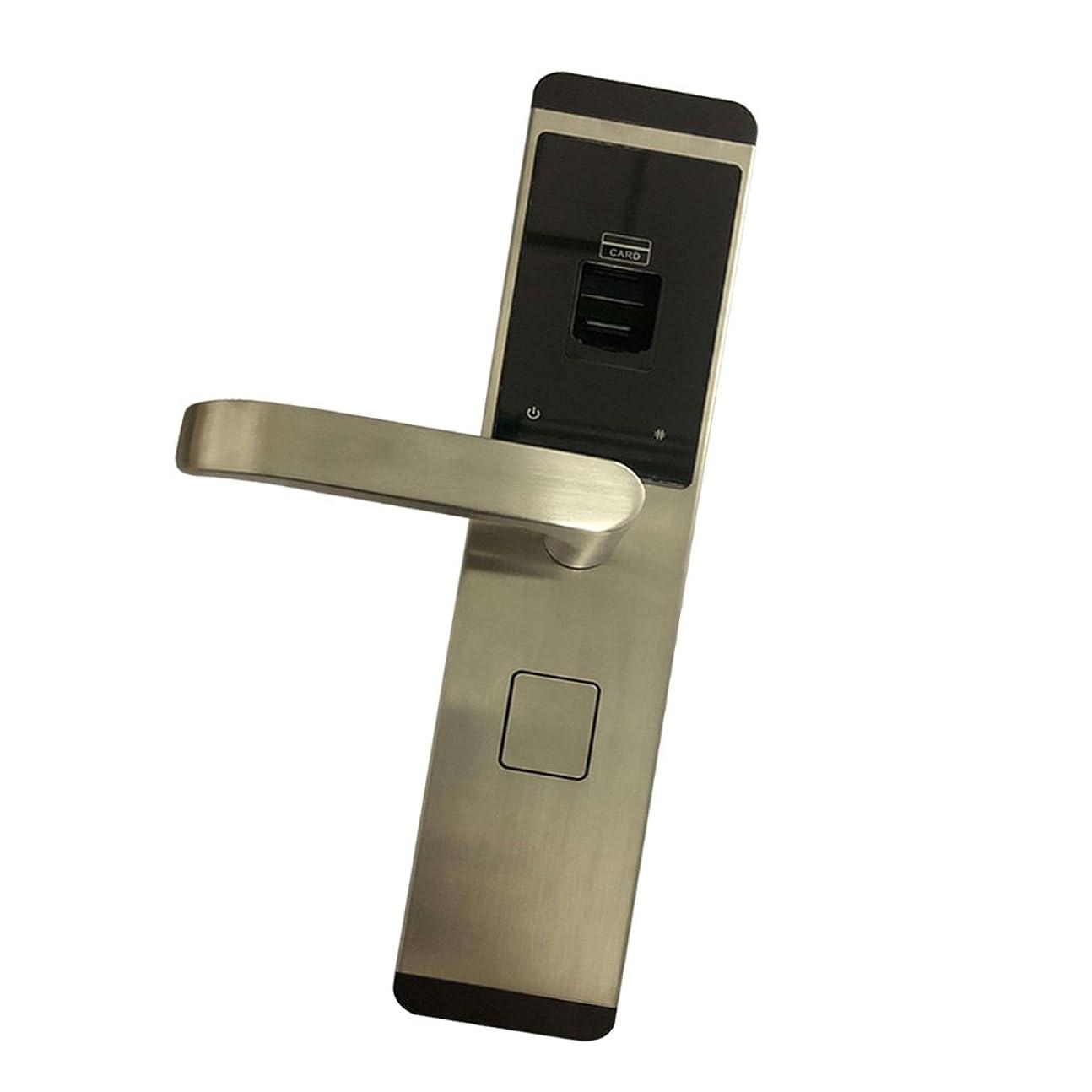 最適自宅で保持PETSOLA スマート 電子 キーレス デジタル ドアロック 指紋認証 RFIDカード 盗難防止 安全性 銀