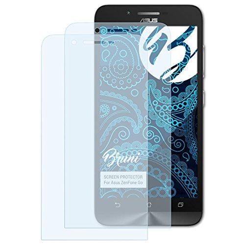 Bruni Schutzfolie kompatibel mit Asus ZenFone Go Folie, glasklare Bildschirmschutzfolie (2X)