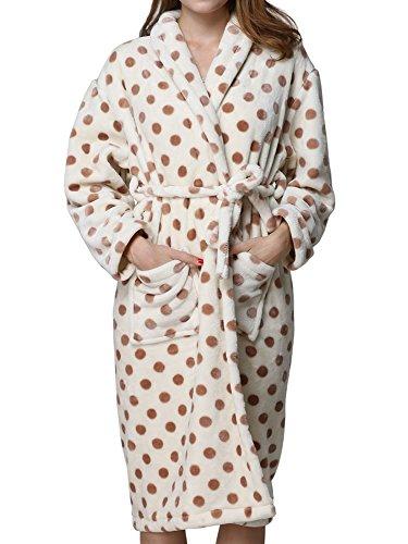 Godsen Women's Comfort Polyester&Coral Fleece Sleepwear Bathrobe (Small)