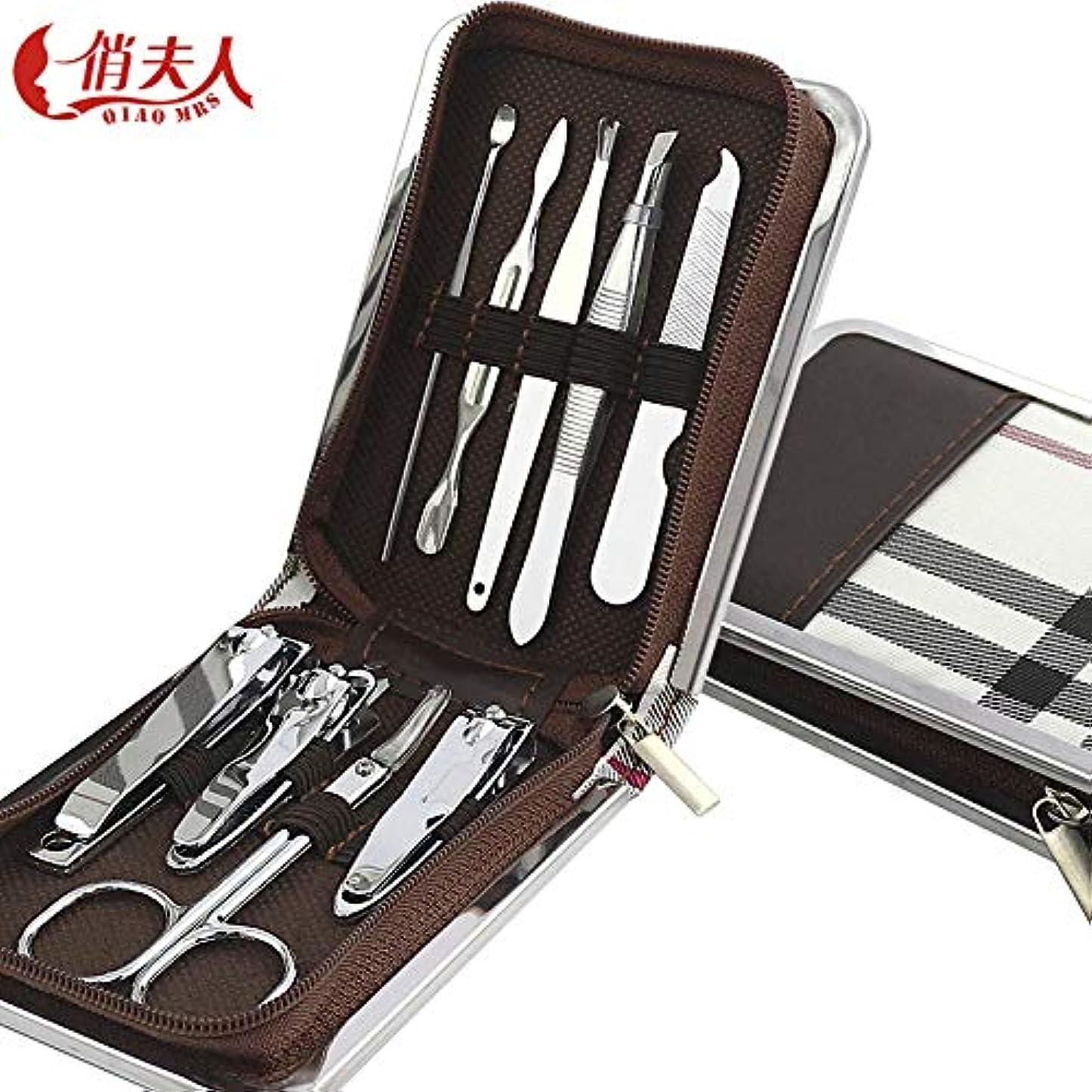 インク古代戦う爪切りはマニキュア用具をカスタマイズしますZip袋の爪切り9部分は爪切りセットを置きました