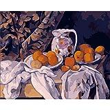XKLBO Malen Nach Zahlen Erwachsene Cezanne Obst Leinwand Ölgemälde Für Erwachsene Kinder Kits Inklusive Pinsel Und Acrylfarben 40X50 cm