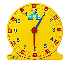 Learn How to Tell Time Teaching Clock – Large 12 Classroom Demonstration Night and Day Learning Clock