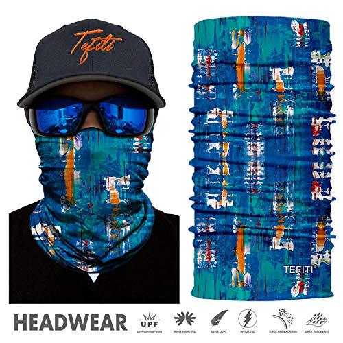TEFITI Sport-Kopfbedeckung, 3D-UV-Sonnenmaske, Bandana, Sturmhaube, Kopfband für Radfahren, Angeln, Motorradfahren, Laufen, Skateboarden, Jagd, Feuchtigkeitstransport, FS77