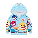 Girl Baby Shark Hooded Coat Cardigan Long Sleeve Zipper Hoodie Jacket 3-8 Y