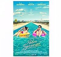 パームスプリングス映画、サンバーグミリオティキャンバスポスターホームウォールペインティングデコレーション(フレームなし)-50x75cmフレームなし