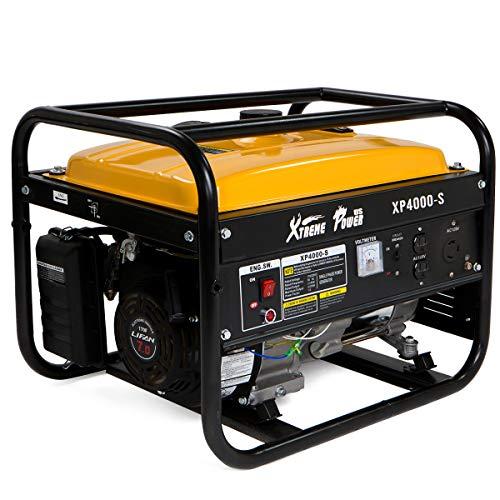 XtremepowerUS 3500 Running Watts/4000 Starting Watts, Gas Powered Portable Generator 7HP Air Cooled OHV Engine