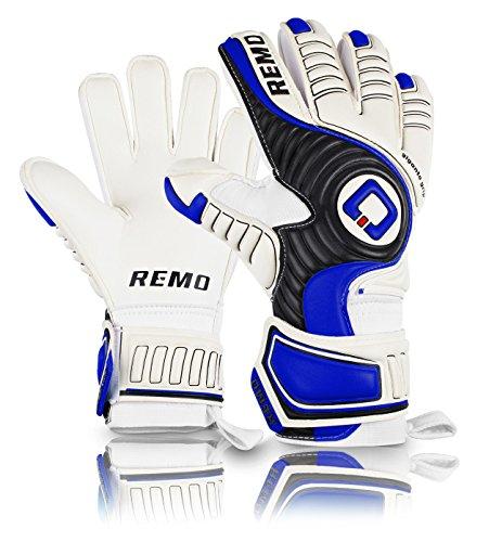 REMO Sports Giganto Latex Torwarthandschuhe Flat Cut (blau, 7)