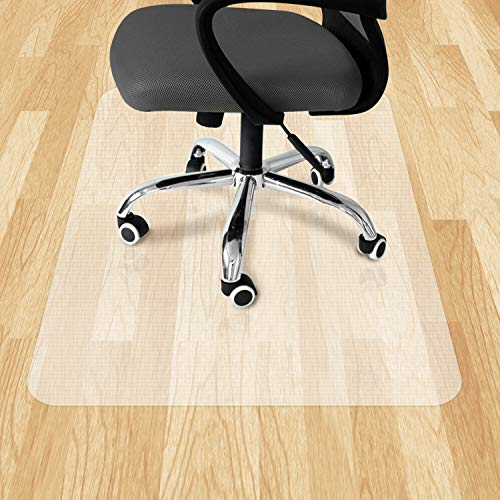 """VPCOK Office Chair Mat, Computer Chair Mat, 47"""" x 35"""" Office Chair Mat for Hardwood Floor/Low Pile Carpet, Translucence, Unique Design, High Impact Strength, Upgraded Version"""