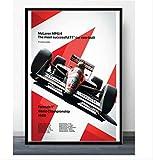 nobrand Leinwand Poster Heißer Ayrton Senna F1 Formel