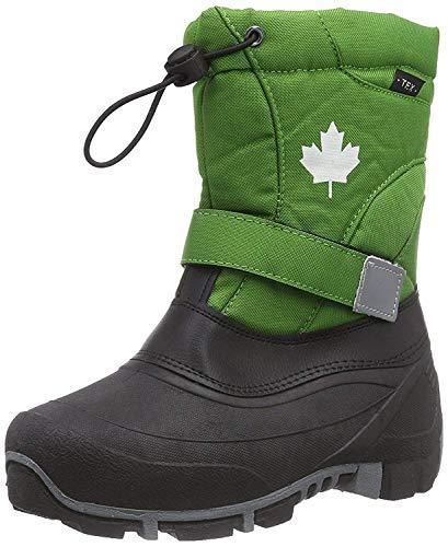 Indigo Canadians Jungen Winter Stiefel Boots 467-185 gefüttert in Grün (42)