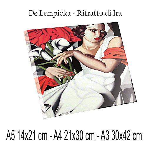 Social Crazy Stampa Diretta su PLEXIGLAS ULTRAHD - De Lempicka - Ritratto di Ira - 100% QUALITà ITALIA pannello Dipinto Idea Regalo Casa quadro cucina stanza da letto soggiorno (A3)
