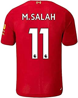 #11 M Salah Liverpool Home 2019-2020 Mens Soccer Jersey Color Red