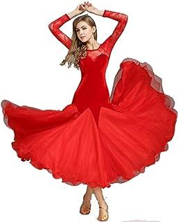 4b0ac7ecdf4 ZYLL Vestido de Encaje Falda de Baile de vals Vestido de salón de Baile de  Las