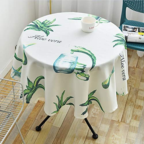 WSJIABIN Home Decoration Waterproof Disposable Tablecloth Nordic Desk Living Room Tablecloth Fabric Restaurant Round Tablecloth