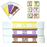 Money Bands Currency Sleeves Straps – Made in USA (Pack of 330) Self-Adhesive Assorted M...