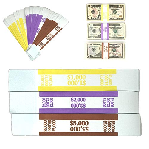 Knox Gear Currency Straps 120-Pack Assorted Bill Wrappers