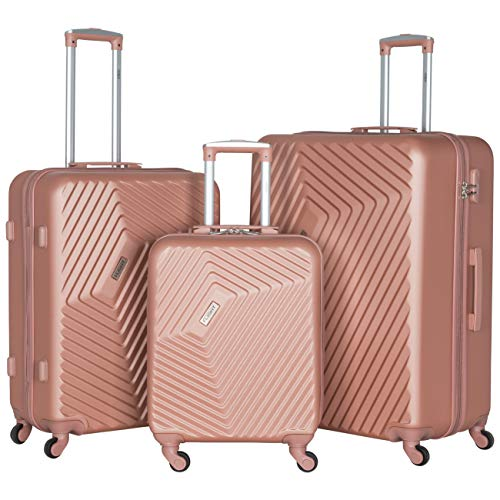 Flight Knight Lightweight 4 Wheel ABS Hard Case Suitcases Maximum for Lufthansa & Air Canada Compatible with 35 Airlines.