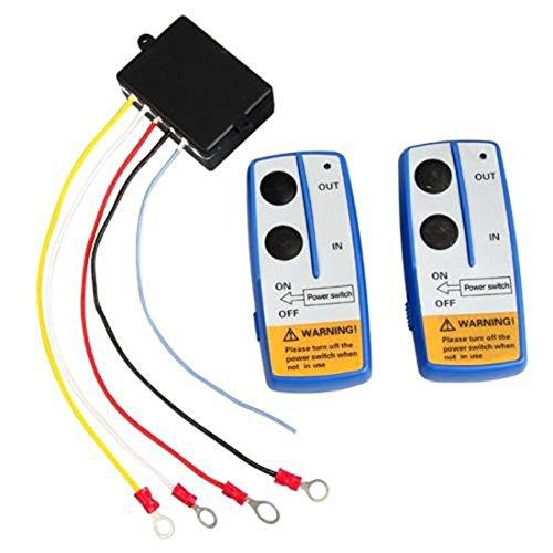 LoveLifeast kabellose Funkfernbedienung für Fahrzeug-Seilwinde, 12V