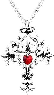 EVRYLON - Collar de Cruz gótica para Mujer con Colgante de ...