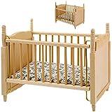 alles-meine.de GmbH Miniatur - Holz - Kinderbett / Bett - Babybett - Maßstab 1:12 - Puppenstube /...