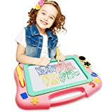 FONLLAM Magnetic Drawing Board - Magna Writing Doodle Board - Educational Toys for Kids, Toddlers Girls, Boys, Erasable Pad...
