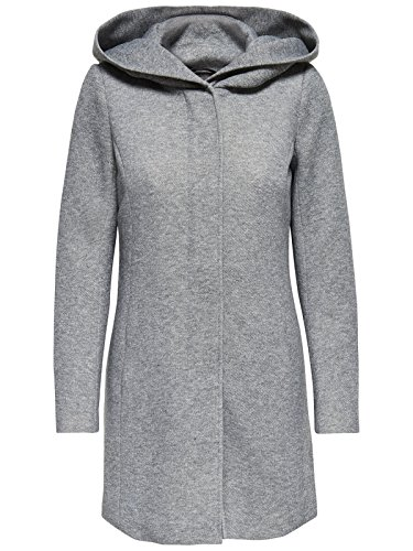 ONLY Damen Mantel Jacke Sedona Light Coat Parka Übergang Frühling (XXL, Light Grey Melange)