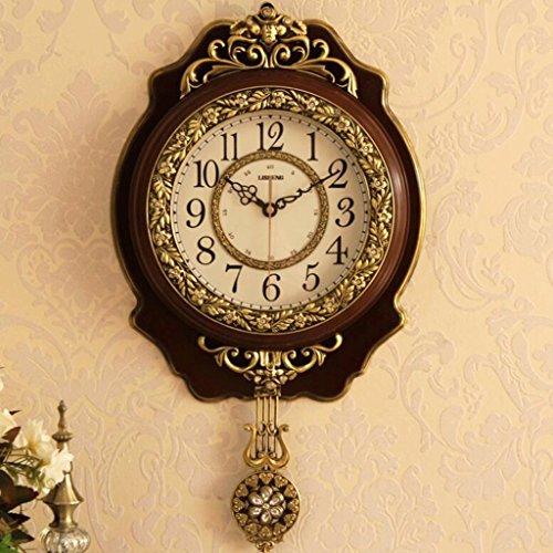 Bonne action Horloge murale Européenne Horloge Murale Salon De Luxe Creative Atmosphérique Horloge Simple Moderne Personnalisé Art Décoration Mute Horloges de Maison