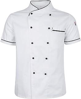 aa5ffd5de30 D DOLITY Chaqueta de Chef Ejecutivo Repostera Pastelería Restaurante Hotel  Cafetería Panadería Trabajo de Cocina