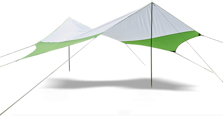 LJJYN Himmel Vorhang sechseckiges Zelt draussen Camping Anti-UV Regenfest Markise Familienzelt Grill Strand übergroe Pergola
