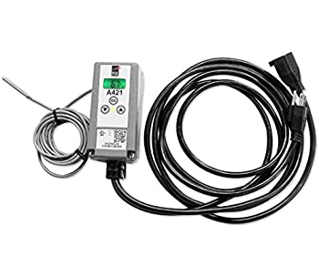 Johnson Controls A421ABG-02C A421 Series Electronic Temperature Control with Pre Wired Power Cord -40 to 212 Degree F Temperature Range