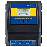 MOES Dual Power Controller 50A 5500 Watt Automatic Transfer Switch for Off Grid Solar Wind System ATS DC 12V 24V 48V AC 110V 220V.