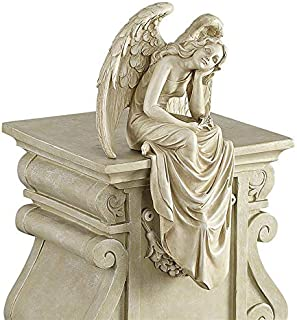 crying angel garden statue