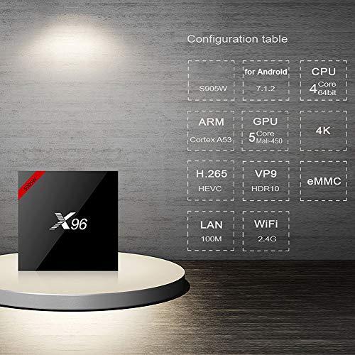 Decodificador de TV, Mini TV Box DDR3, Características estables de Sonido Envolvente estéreo Bluetooth 4.0 para 7.1(European Standard 110-240V)