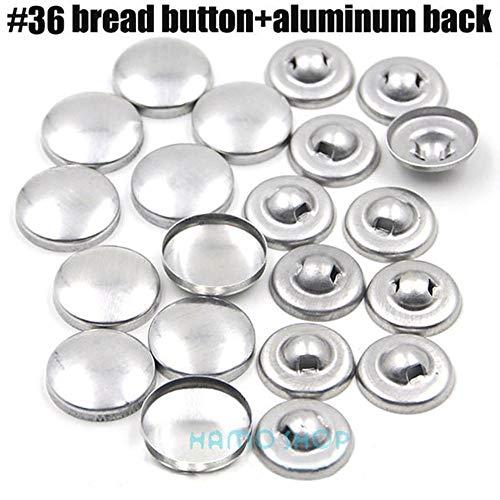100 stks sets/partij # 16-60 diy handgemaakte stof knoppen brood vorm ronde stof bedekt doek knop cover metalen 4 terug knoppen 13 s, l36, aluminium achterkant
