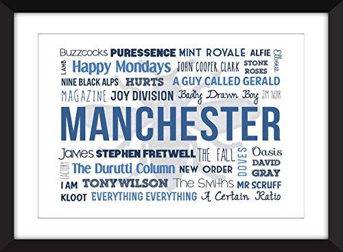 Músicos de Manchester Unframed Tipografía Imprimir