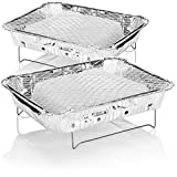 com-four® 2X Barbecue jetable - Gril jetable Pratique avec Charbon de...