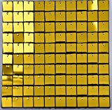FlavorThings 12 Panels Shimmer Wall Sequin Panels Air Active Panels (12panels, Gold) for Wedding Event Theme Party Decoration Tile Photography Background Prop Backdrop Signs Glitter Sequin Wall Panel