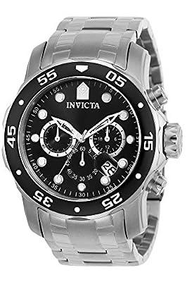 Invicta Men's Pro Diver 48mm Stainless Steel Chronograph Quartz Watch, Silver (Model: 0069)
