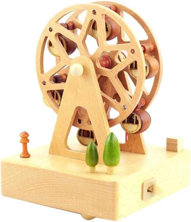 DIAOD Ferris Wheel Musical Box Ranking TOP18 Wooden Wind i Popular popular Castle Up Music