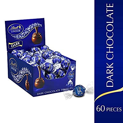 Lindt LINDOR Dark Chocolate Truffles, 25.4 oz, 60 Count